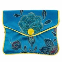 New Blue Jewelry Gift Pouch Chinese Style Small Silk Coin Purse Gift