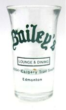 Bailey's Lounge & Dining Edmonton Restaurant Advertising Shotglass Shot Glass