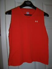 Nwot Womens Under Armour Red Tank Style Athletic Shirt Size Large