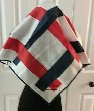 Trevira Vintage Neck Scarf Made In Italy Red/White/Blue Rare Htf Oop