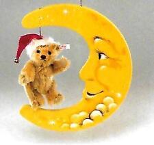 """STEIFF  """" TEDDY BEAR WITH WOODEN MOON"""" EAN 670909 BLOND MOHAIR TEDDY 2003"""