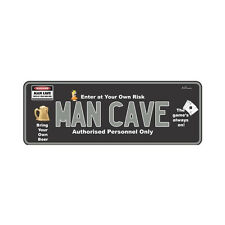 Novelty Number Plate - Man Cave (Graphics) - AUS Licence Plate Sign