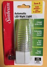 White Automatic LED Night Light  -Sensor - Standard USA PLUG IN BRAND NEW