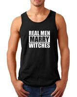 Tank Top Real Men Marry Witches Shirt Funny T-Shirt Halloween Tee Husband Gift