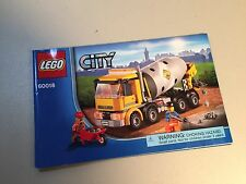Lego City Cement Mixer 60018 Instruction Manual