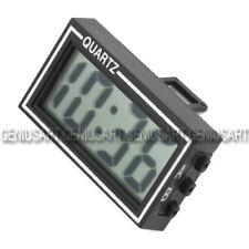Mini LCD Orologio Digitale Calendario Sostegno + Biadesivo per Cruscotto Auto