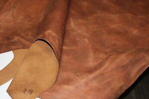 MEDIUM BROWN DISTRESSED LEATHER HIDE Thickness 1.6-1.8 mm/ 4 oz - 4.5oz 18 SqFt