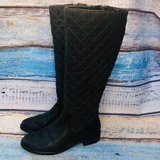 Aerosoles Establish Quilted Black & Grey Quilted Wool Womens Boots Size 7 M
