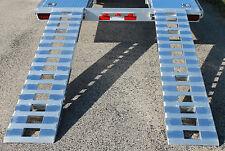 "88""_5000_LB ALUMINUM CAR TRUCK TRAILER Ramps auto hauler Hook ends HALF KNIFE"