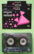 MC Musicassetta MESSAGE by MAXELL 70 vintage cassette audio tape no agfa basf