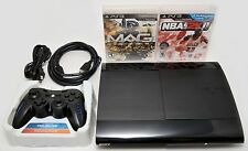 Sony Playstation 3 Super Slim 250GB Game Console System Bundle PS3 Bluetooth MAG