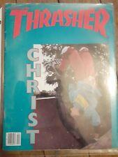 Thrasher skateboard magazine April 1985 nos oldschool deck vtg used hosoi