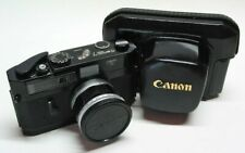 VERY RARE CANON 7 BLACK BODY + Canon 50 mm f/1.4 type 2 (ex Ioannis collection)