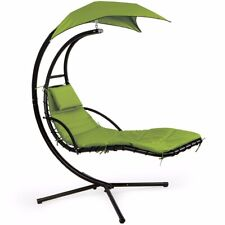 Hanging Helicopter dream Lounger Chair Stand Swing Hammock Chair Green Canopy