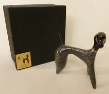 Cmielow Pottery POODLE DOG  abstract figurine in original box