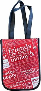 Lululemon Small Reusable Tote Carryall Lunch Bag (Red, White, Black)