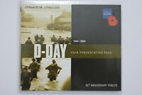 Guernsey D-Day 60th Anniversary BU Presentation Pack 2004 5 POUNDS Colour Poppy