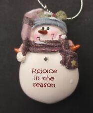 z Rejoice in the season Snowman figurine Ornament Christmas ganz