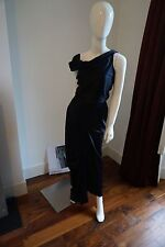 Vivienne Westwood Navy Silk Boned Long Dress Size UK10 3069