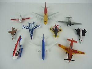 Set of 10 Diecast Planes Aviation Aviones Metal Scale Models Toys Jets biplane