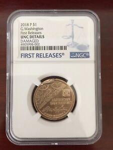 2018 P Innovation Dollar Washington 1st Patent $1 mint error NGC FR UNC DETAIL 2