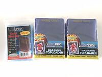 50 ULTRA PRO 3x4 ULTRA CLEAR Hard Plastic GOLD ROOKIE toploaders&100 soft sleeve