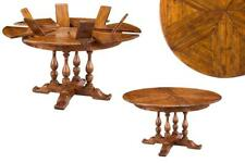 """Small Solid Walnut Rustic Jupe Table, 45"""" to 56"""" Round"""