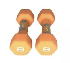 🔥 CAP Hex Neoprene 8 LB Pound Pair Dumbbell Hand Weights NEW SET 16 Lbs TOTAL