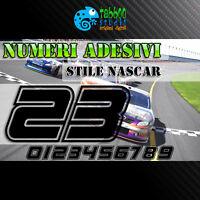 Numeri stickers adesivi stile Nascar gara racing carena corse moto auto kart