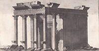 Gravure XVIIIe Temple du Soleil Temple de Rê Héliopolis Ηλιούπολ Aîn-ech-Chams