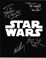Star Wars autographed 8x10 Photo COA SIGNED BY 4 MULTI SIGNED