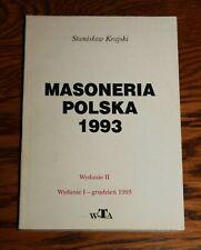 Masoneria polska 1993 - Stanisław Krajski