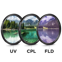 52mm Filter Kit 3 piece UV FLD CPL Filters For Canon Nikon Sony DSLR Cameras