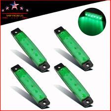 4X Green 6Led Camper Trailer Rv Exterior Porch Utility Light Door Step Lights
