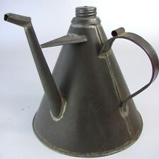 Antique Mason Triangular Tin Oil Pouring Container w.Handle - Impressive Design