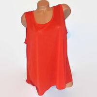 Attention Womens Tank Top Dark Orange Solid Sleeveless Modal Plus