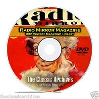 Radio Mirror, 332 Vintage Old Time Radio Magazine Collection in PDF on DVD B94