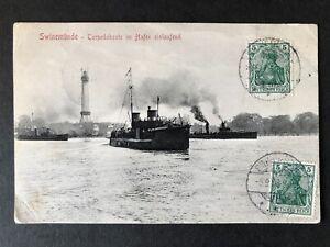1908 photo Torpedoboote arriving Swinemunde/Swinoujscie phot from SMS Gneisenau