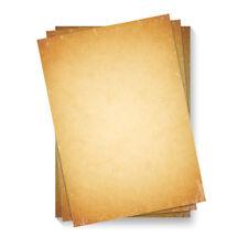 Briefpapier Motivpapier DIN A4 Beidseitig Vollflächig Vintage Retro altes Papier
