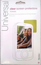 New T-Mobile Universal clear screen protector -10 sheets- iPhone 4s 5 SE Galaxy
