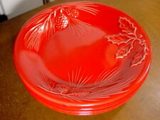"Lenox RUSTIC BERRY Salad / Luncheon / Dessert / Accent Plates 9""  SET / 4 - NEW!"