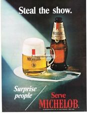 1971 Michelob Beer Steal The Show Vtg Print Ad