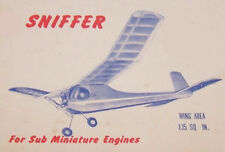 "Model Airplane Plans (FF): Midwest SNIFFER 29½"" 135s.i. for .010-.049 (1952)"