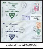 FRANCE / SWEDEN - 1978 AIR FRANCE B727 PARIS to GOTEBORG to PARIS - FFC 2nos