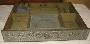 Antique National Cash Register Drawer w/ Brass Front