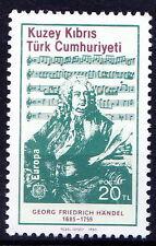 Turkish Cyprus 1985 MNH, Europa, George Frederic Handel, Composer, Music