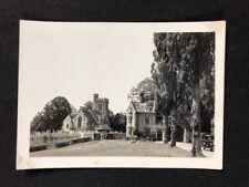 Vintage BW Real Photo #BM: Mystery Gatehouse Church