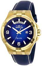 Invicta Men's Objet D Art 30185 44mm Blue Dial Leather Watch