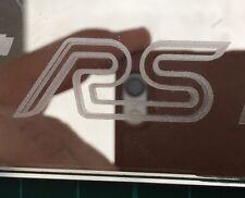 Ford Focus RS MK3 RS Ala Espejo STCIKER Grabado Efecto, Mod Lux insignia de calcomanías de vidrio