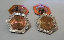 Art Deco Platinum & 14 Karat Yellow Gold Cuff Links